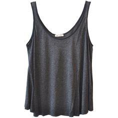 American Vintage Trapeze Tank in Dark Grey ($90) ❤ liked on Polyvore featuring tops, shirts, tank tops, tanks, trapeze tank top, dark grey shirt, trapeze top, dark gray shirt and dark grey tank top