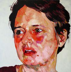 """Saatchi Online Artist: Hanjo Schmidt; Acrylic, 2012, Painting """"Hannah"""""""