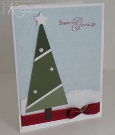 Paint chip Christmas card