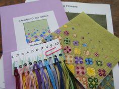 Floating Flowers, Stitch Kit, Cross Stitch, Punto De Cruz, Crossstitch, Needlepoint, Cross Stitches