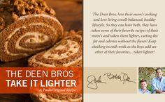 The Deen Bros. Lighter Pumpkin Roll Cake on PaulaDeen.com