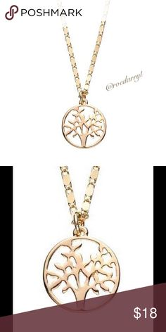 Tree Of Life Necklace by Lauren Conrad Beauty of abounds on this Tree of life Pendant length .75 inches Chain length 16 inches.                                   With lobster clasps and goldtone metal LC Lauren Conrad Jewelry Necklaces