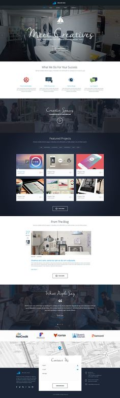 Buy Marine PSD Template by louisdesign on ThemeForest. Marine – a multipurpose theme that combines minimal and perfect grid design with functionality and usability. Homepage Design, Web Ui Design, Web Design Trends, Grid Design, Branding Design, Homepage Web, Branding Agency, Design Agency, Logo Design