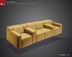 CINEAK Strato Modular Entertainment Sofa Room Screen, Sofa, Couch, Entertainment Room, Rooms, Entertaining, Modern, Projects, Furniture