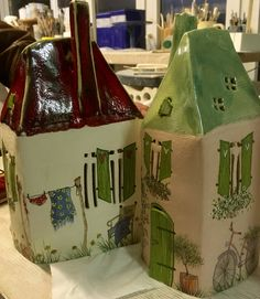 Unique items available in our shop - Ceramic light houses hand painted; Unique items available in our shop - Ceramic Painting, Ceramic Art, Ceramic Pottery, Pottery Art, Pottery Courses, Ceramic Glaze Recipes, Pottery Handbuilding, Fox Nursery, Pottery Store