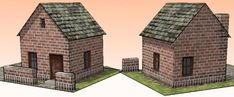 PAPERMAU: More One Easy-To-Build Brick House Paper Model - by Papermau Download Now!