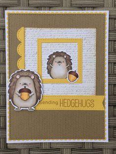 Happy Hedgehogs stamp set from MFT Stamps. Card by Mocha Frap Scrapper