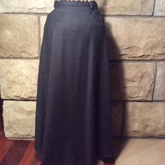 Herman Geist 100% wool maxi skirt This is a winter classic in a nice charcoal grey. Herman Geist Skirts Maxi