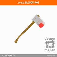 ACS072_BloodyAxe. Part of D&M Character Kit. After Effects Templates, Motion Graphics, This Or That Questions, Content, Kit, Blog, Character, Accessories, Design