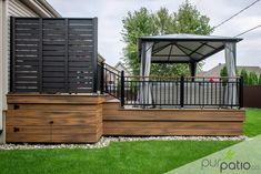 Casa Patio, Backyard Pergola, Pergola Kits, Pergola Ideas, Pergola Roof, Covered Pergola, Patio Deck Designs, Patio Design, Diy Deck