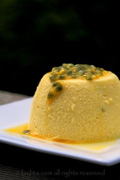 Passion fruit mousse recipe. I would use swerve instead of sugar.