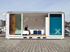 Sleeping around. I absolutely adore the trend toward using reclaimed containers as pop up hotel space.