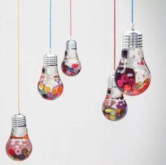 DIY Deko aus Glühbirnen - 120 Bastelideen für alten Glühbirnen