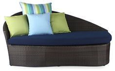 One Kings Lane - The Great Outdoors - Sail Outdoor Left Daybed, Navy