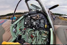 Supermarine 349 Spitfire LF5B G-MKVB / BM597/JH-C (cn CBAF.2461) Cockpit view of the Spitfire.