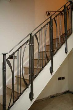 These copper and steel balustrades are very richly detailed