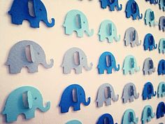 3D Blue Elephant Picture by Polkadotcorner22 on Etsy