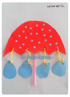 #preschool #okulöncesi #kindergarten #sanatetkinliği #kidscraft #şemsiye #pipet #umbrella