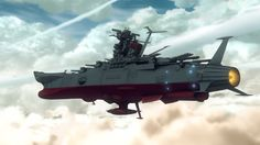 The Yamato firing steering thrusters.