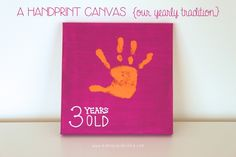 A Handprint Canvas {our yearly tradition}   Mama.Papa.Bubba.