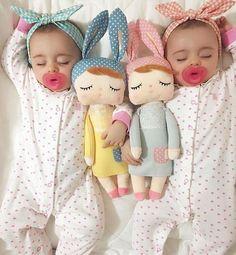 Sleeping Bunny Dolls 2019 Sleeping Bunny Dolls The post Sleeping Bunny Dolls 2019 appeared first on Cotton Diy. So Cute Baby, Baby Kind, Cute Kids, Cute Babies, Twin Girls, Twin Babies, Little Babies, Little Ones, Little Girls