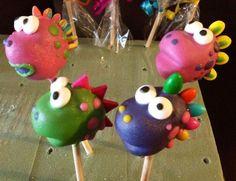 Resultado de imagen para cake pops dinosaurios