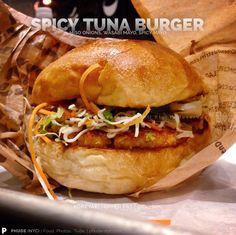 SPICY TUNA BURGER | Miso Onions, Wasabi Mayo, Spicy Mayo |KOBEYAKI | Upper East Side, NYC