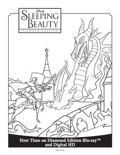 Sleeping Beauty Coloring Sheet Sleeping Beauty Diamond Edition