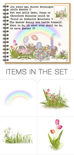 """The Easter Heist or A Tail of Mischief on Rodentia Mountain"" by kateo ❤ liked on Polyvore featuring art and 5486"