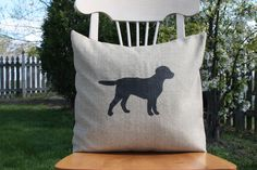Dog Silhouette Throw Pillow by nest2impress on Etsy, $14.99
