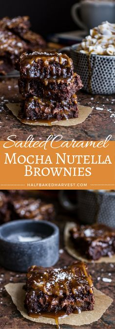 Salted Caramel Mocha and Nutella Brownies | halfbakedharvest.com @hbhharvest