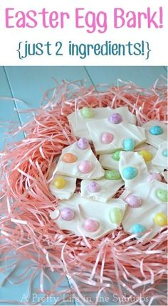 Easter Egg Bark Recipe {just 2 ingredients!} ~ go grab the jelly beans and get ready for the easiest dessert ever!! #jellybean #jellybeans #recipes