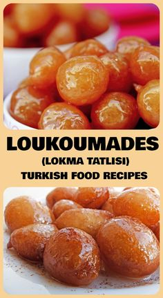 LOUKOUMADES – LOKMA TATLISI Today we are going to make a very traditional Turkish food dessert. Loukoumades is a very happy and festive dessert because it is usually made to celebrate happy events. Turkish Sweets, Arabic Sweets, Arabic Dessert, Arabic Food, Indian Dessert Recipes, Sweets Recipes, Cooking Recipes, Middle East Food, Puddings