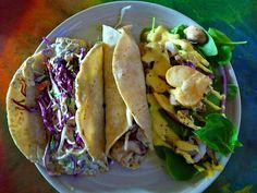 Fish Tacos from The Cove in San Antonio. I don't like fish tacos but their turkey tacos are amazing!!