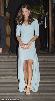 The event tonight capped off a long day for the Duchess, who had earlier made a public app...