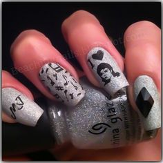 Michael Jackson Inspired by Dollface22772 - Nail Art Gallery ...
