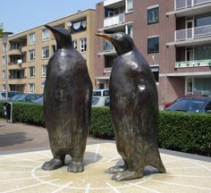 Herman Lamers  Twee bronzen pinguins  Rotterdam