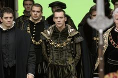 The Tudors (2007 - 2010) Starring: James Frain as Thomas Cromwell, 1st Earl of Essex; Callum Blue as Sir Anthony Knivert, Henry Cavill as Charles Brandon, 1st Duke of Suffolk; Jonathan Rhys Meyers as Henry VIII of England, Bob Jones there behind Henry, Henry Czerny as Thomas Howard, 3rd Duke of Norfolk; and Nick Dunning as Thomas Boleyn, 1st Earl of Wiltshire. (click thru for larger image)