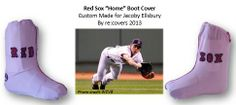 Custom walking boot cover for Jacoby Ellsbury of the #Boston Red Sox