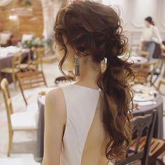 お色直し作ってるけど抜け感を意識して作りました☺️ アムサラのドレスも素敵だった