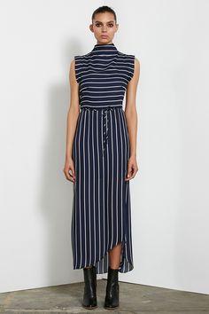 Shona Joy - High Isabelle Neck Midi Dress