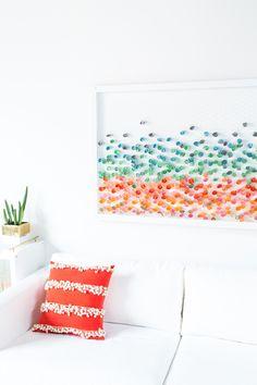 DIY Cuadro reciclando papeles de colores