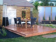 Floating decks can provide an interesting new look for your outdoor living space.