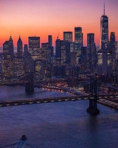 Manhattan City, Manhattan Bridge, Lower Manhattan, Brooklyn Bridge, One World Trade Center, New York Photos, November 23, First World, New York City