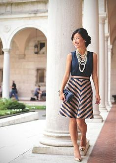 77 Elegant Outfit Ideas to Learn How to Wear Stripes Right  - Do you find it difficult to wear stripes? Stripes are among the catchiest prints women wear. They are perfect for almost all women. They are presented... -   .