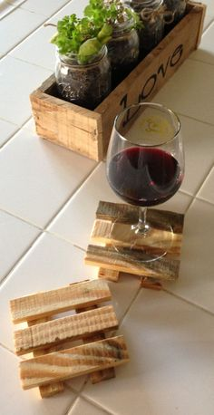 Reclaimed Wooden Coasters Set of 4 by WoulfsCreations on Etsy, $12.00