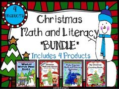 Christmas Math and Literacy BUNDLE (Includes 4 Products) #Christmas #Commoncore