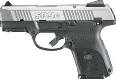 "Flag Firearms LLC | Ruger SR9C Compact DAO 9mm 3.4"" 17+1 Blk Poly Grip Brushed SS Slide"