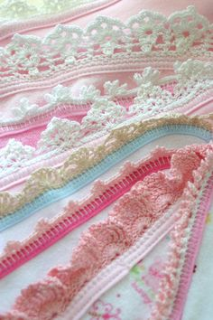 CG028 Baby Edgings Crochet Pattern Download $6.50  This set includes 7 edgings. These edgings can be used on virtually any piece of fabric that is circular, oval or rectangular in shape. Because there is no preset size or number of stitches, the fabric can be of any size.   http://www.maggiescrochet.com/collections/new/products/baby-edgings-crochet-pattern-download