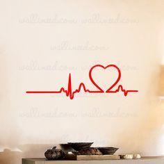Love Rhythm Heart Beat Wall Decal